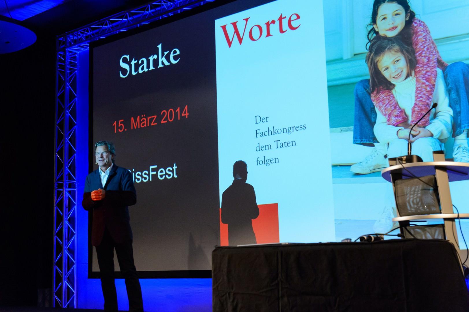 Dr. Florian Langenscheidt begrüßt zum Kongress Starke Worte am 15. März 2014