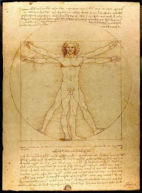 Bild von Leonardo da Vincis Darstellung des Menschen