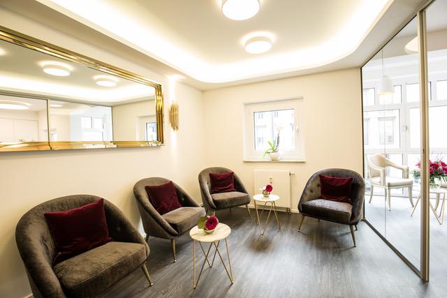 Wartzimmer im Prophylaxezentrum der Zahnarztpraxis Zahnkultur in Köln