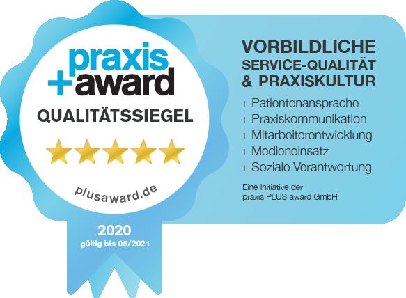 Praxis Plus Award 2020 für die Zahnarztpraxis Zahnkultur in Köln