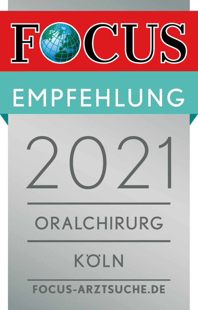 Oralchirurgie Köln - Dr. Martin Schneider erhält die FOCUS Empfehlung 2021 als Oralchirurg Köln - Empfohlene Ärzte in der Region