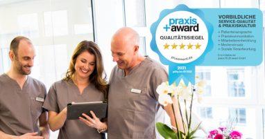 Praxis Plus Award 2021 für den Zahnarzt Zahnkultur in Köln