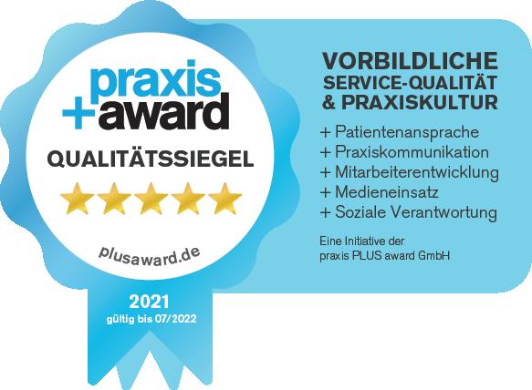 Praxis Plus Award 2021 für die Zahnarztpraxis Zahnkultur in Köln